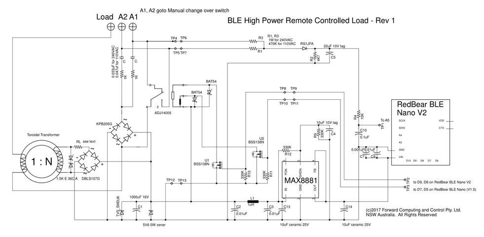 ble power control with pfodapp with manual override